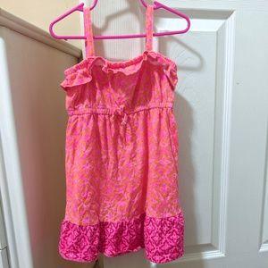 Children's Place 4T girls summer dress pink orange